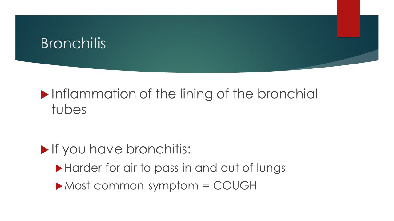 a study on bronchitis an inflammation of the bronchial tubes Although another study an enlargement of the bronchial tube causes bronchitis bronchitis describes the swelling or inflammation of the bronchial tubes.