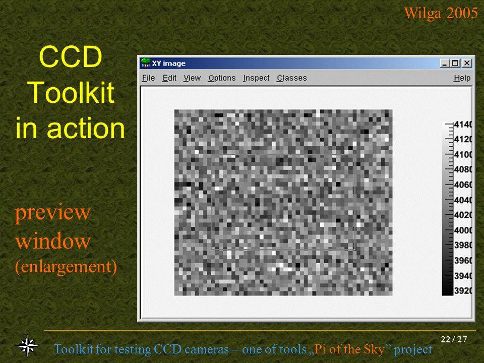 CCD Toolkit in action preview window (enlargement)