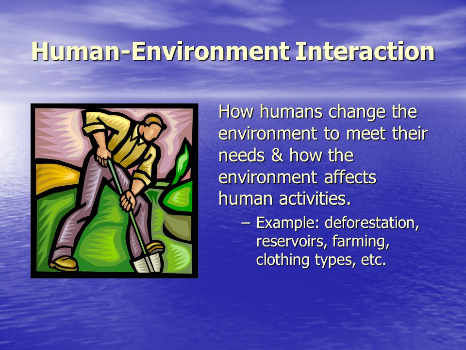 how environment affects humans A secondary school revision resource for aqa gcse science about evolution,  humans and their environment.