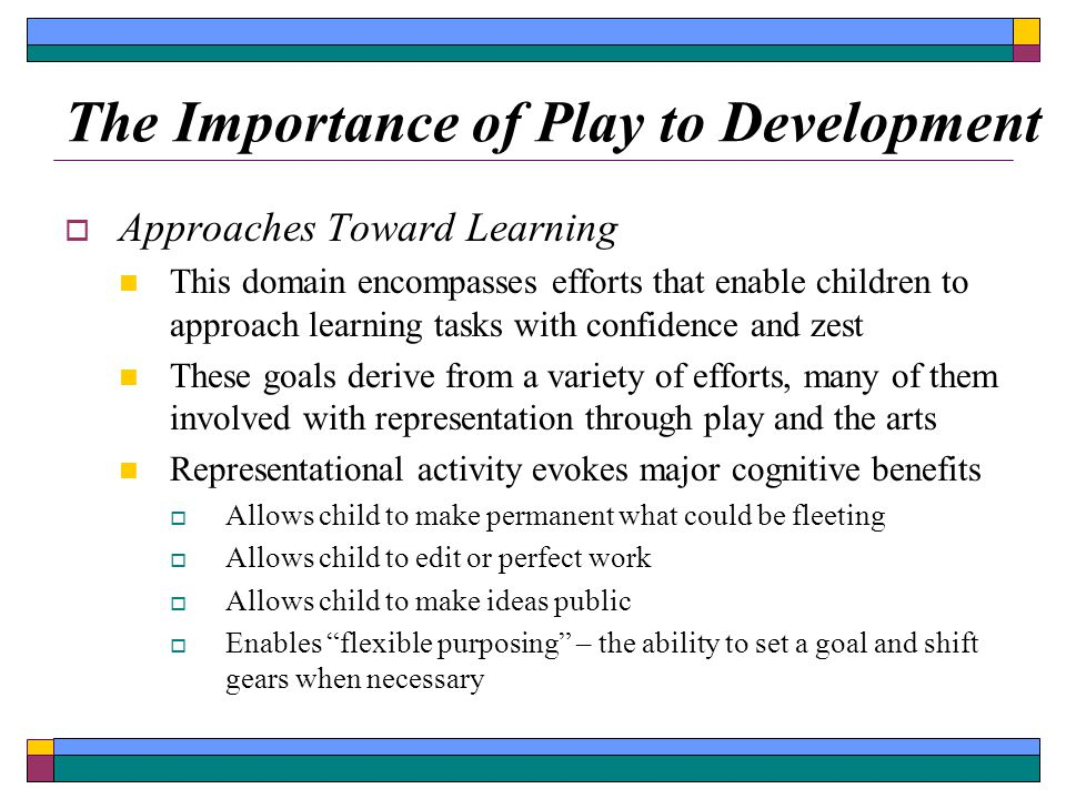 the importance of the ability to be creative in the development of a child 5 an approach to creative learning in the early years creativity is about representing one's own image, not reproducing someone else's (b duffy, supporting.