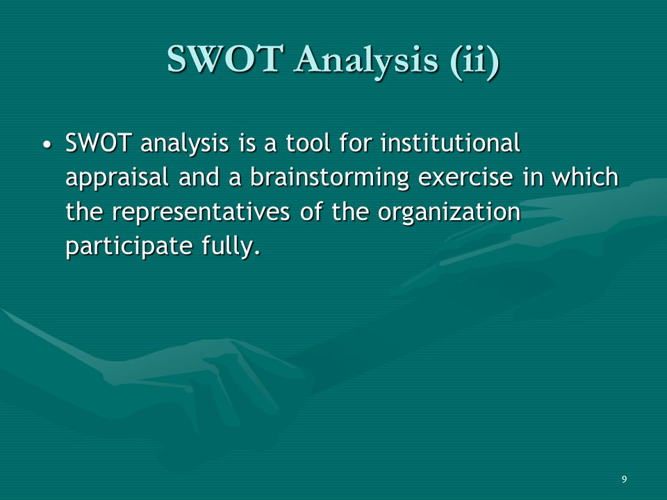 swot analysis for project based organizations The essential guide to swot analysis from jackson hille, content associate for formswift, a sf-based startup that helps organizations, entrepreneurs, and businesses go paperless quality guide: swot analysis is a helpful guide from management sciences for health and united nations children's fund.