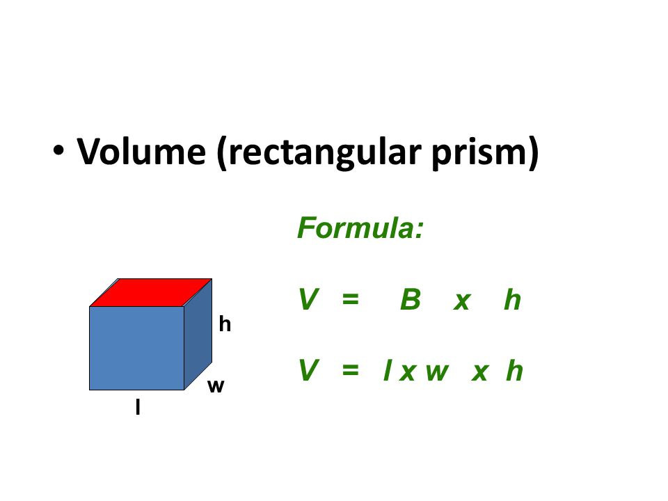 Volume of Rectangular Prisms - ppt video online download