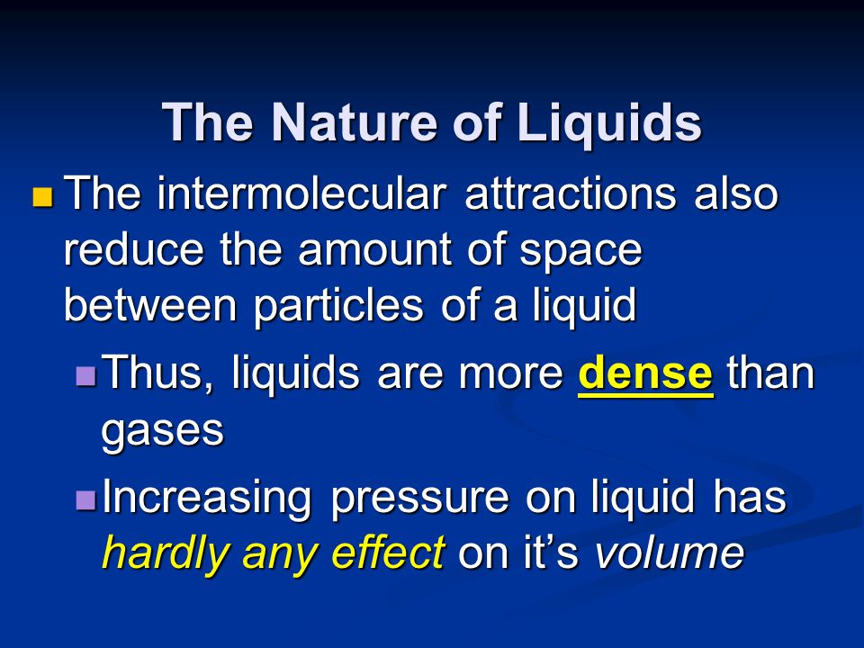 intermolecular attractions essay Physical properties  thus, in order to break the intermolecular attractions that hold the molecules of a compound in the condensed liquid state,.