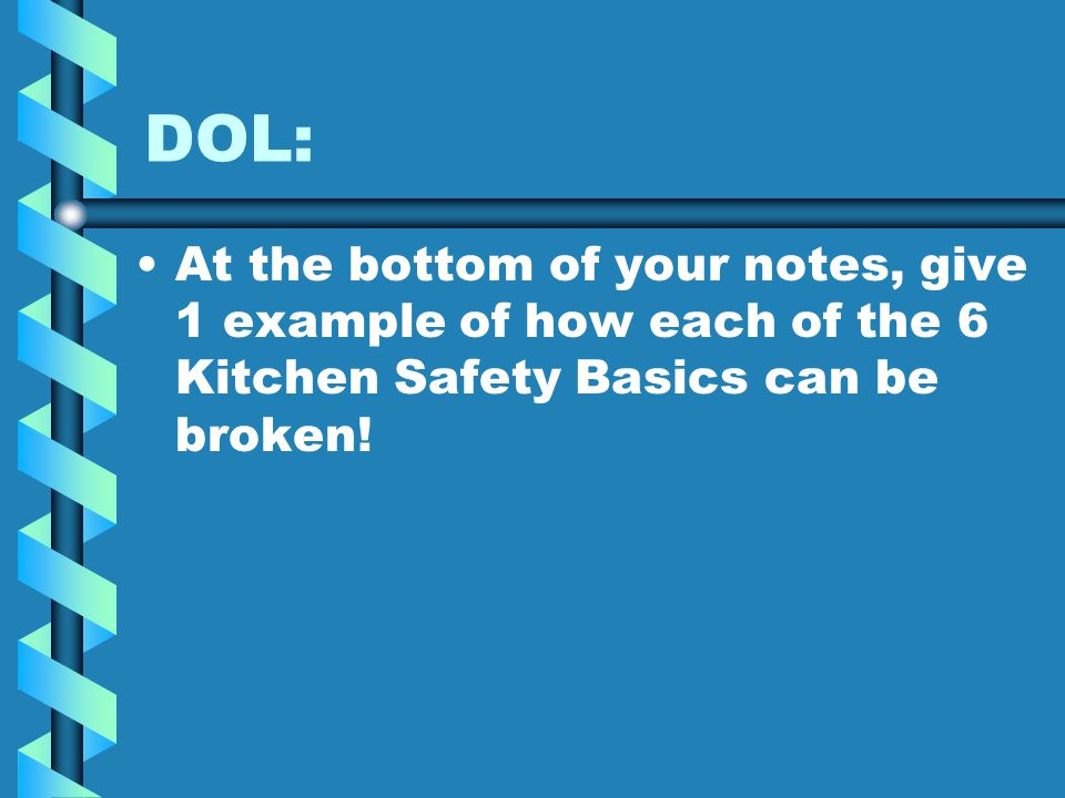 Kitchen safety and sanitation its just common sense for 6 kitchen accidents