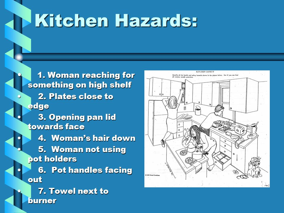 Kitchen safety and sanitation its just common sense for 5 kitchen safety hazards