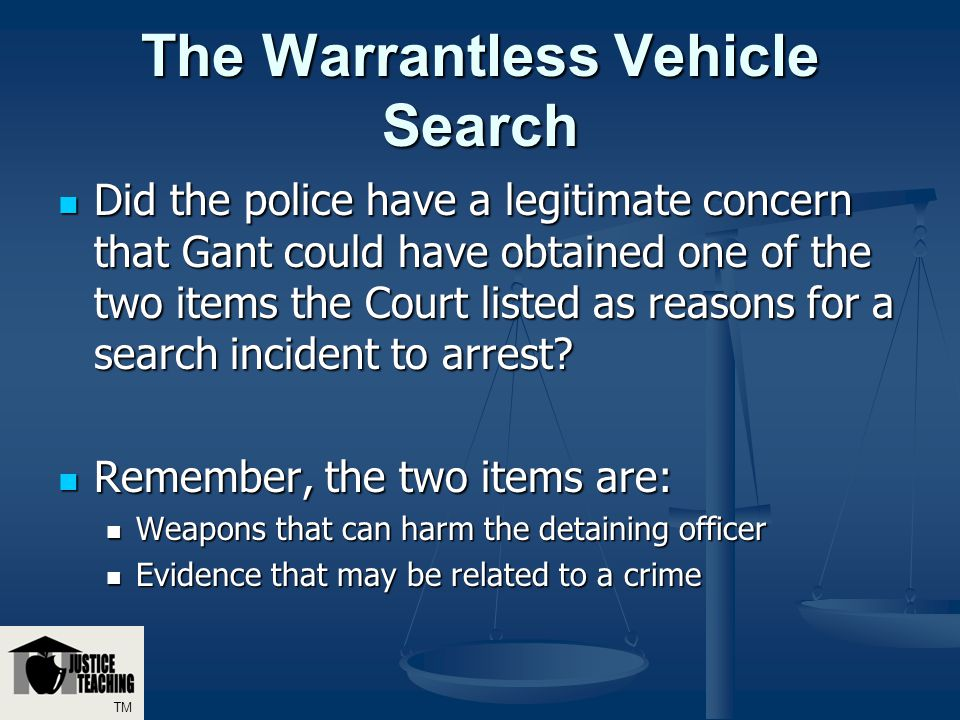 warrantless search Warrantless searches are searches and seizures conducted without search warrants in the united states, warrantless searches are restricted under the fourth amendment .