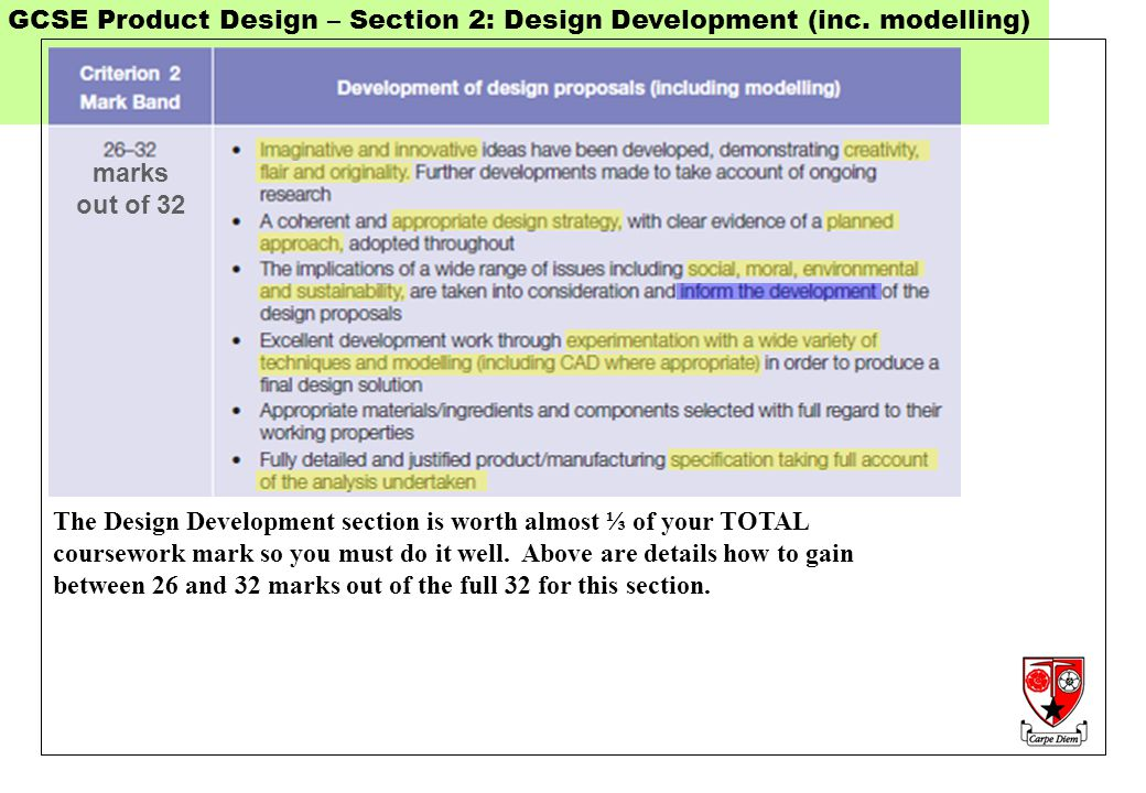 product design coursework mark scheme Find aqa a level design and technology product design (3d) past papers and mark scheme download past exam papers for aqa design and technology product design (3d) a-level.