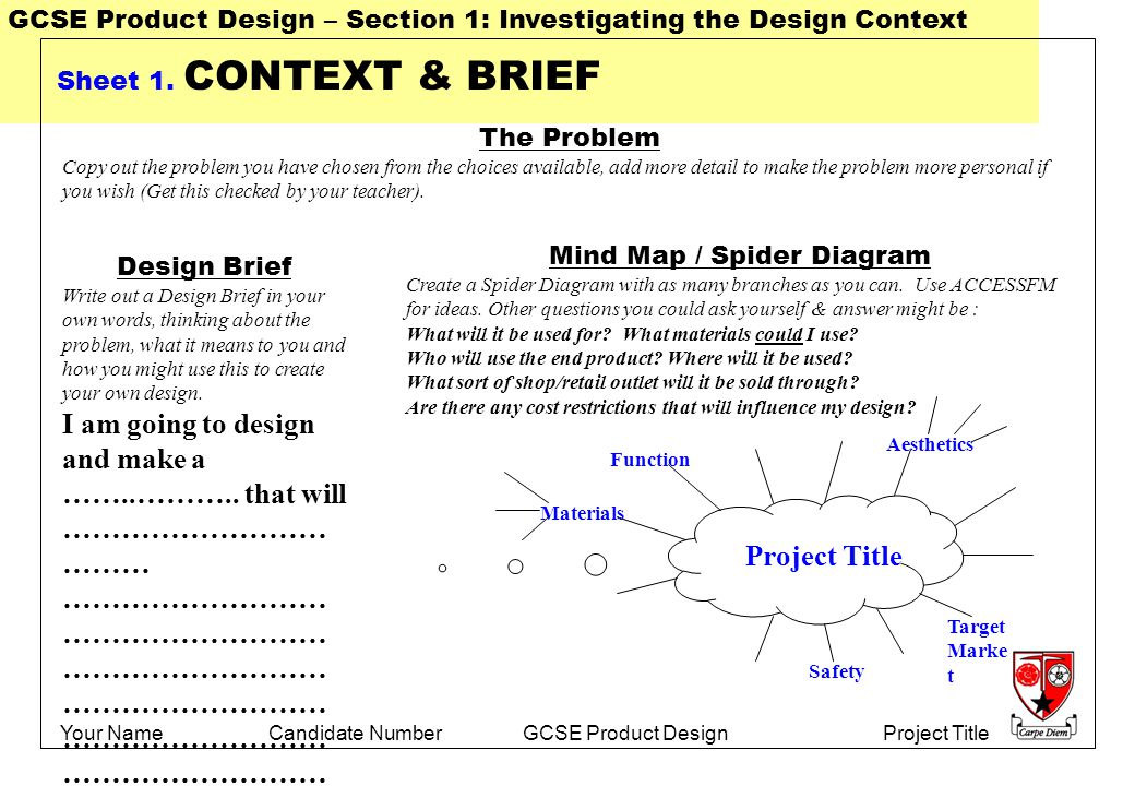 how to write a product design brief