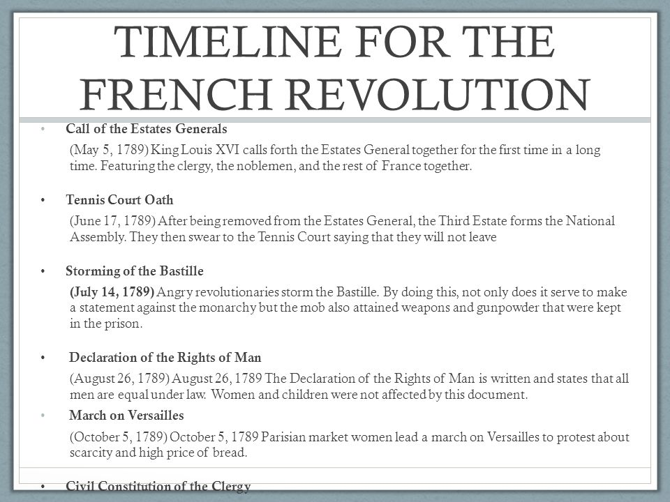 timeline french revolution custom paper academic service