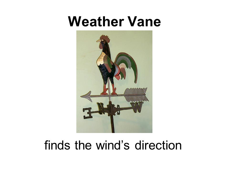 Weather Vane Weather Vane finds the wind's direction