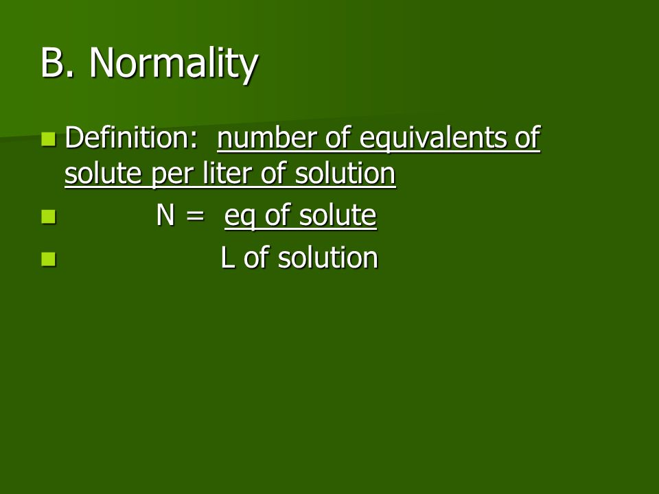 mathematical relationship between molarity and normality