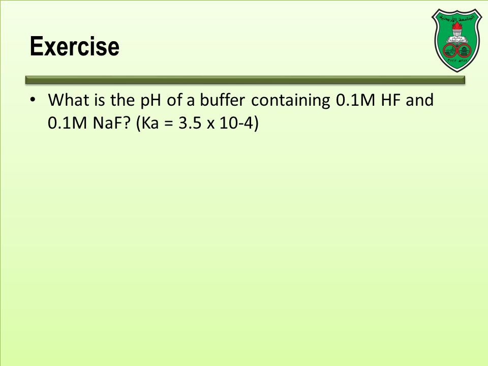 how to create buffer solution with hf