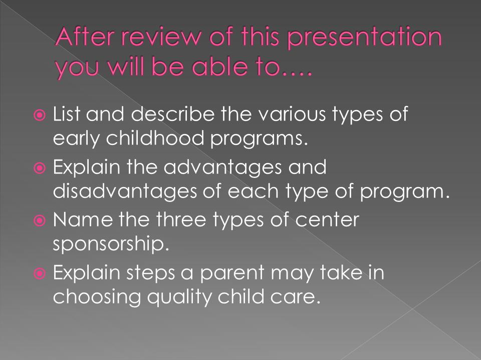 After review of this presentation you will be able to….