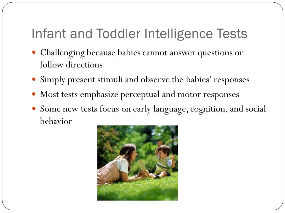 measuring childrens intelligence using the bayley scales of infant and toddler development and the p Transcript of bayley scale of infant development (bayley, 2006) measure cognitive measures development in infants and young children by identifying social.