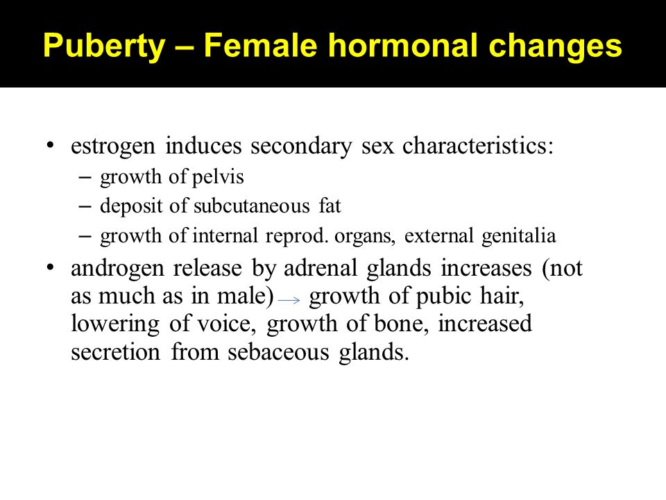 Puberty – Female hormonal changes
