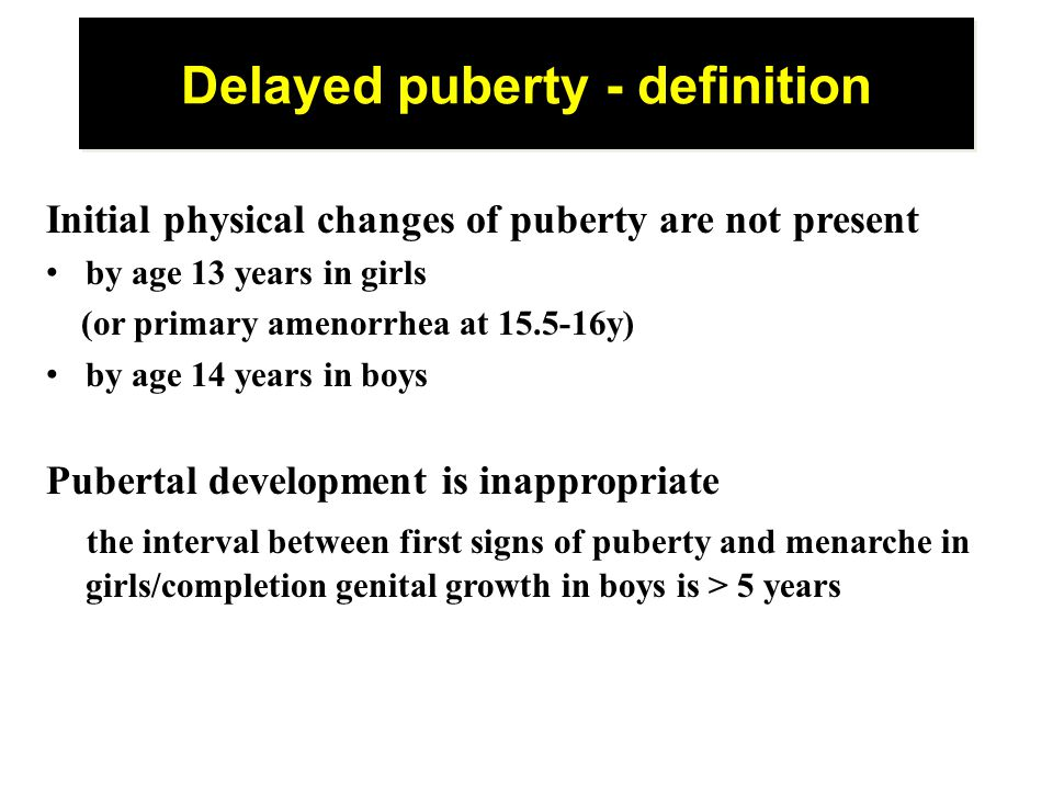 Delayed puberty - definition