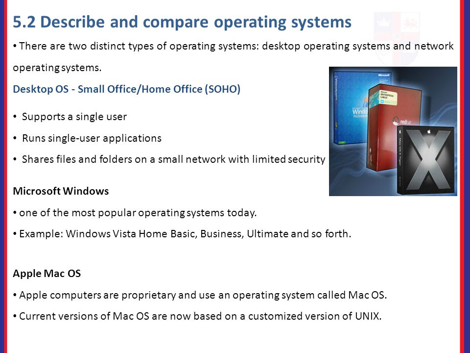 comparison of network operating systems
