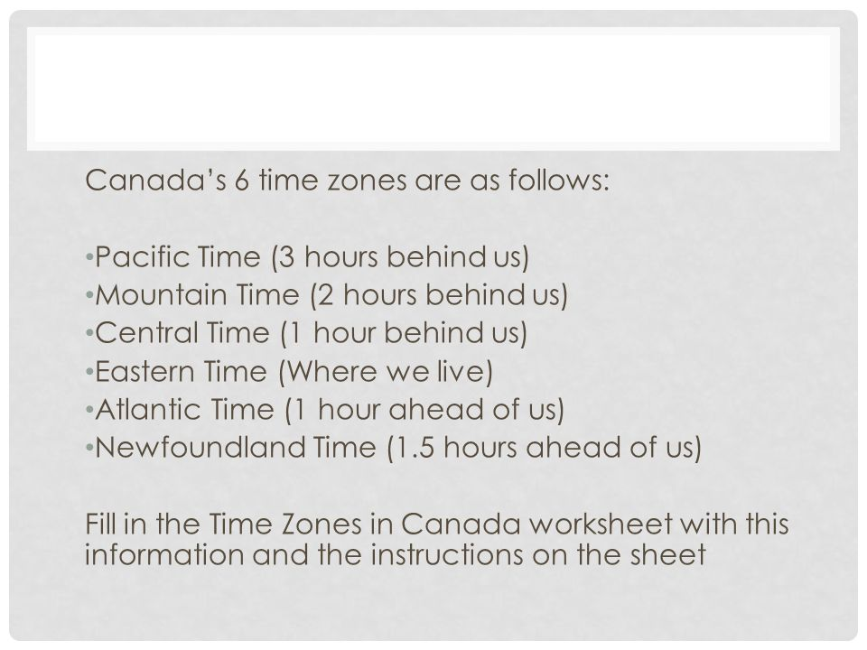 Minds On Whats the Time ppt video online download – Time Zones Worksheet