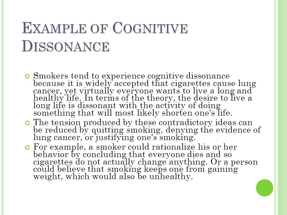 personal recount of cognitive dissonance experience Cognitive dissonance isn't something we talk about a lot, but we experience  examples of it happening all the time cognitive dissonance, in.