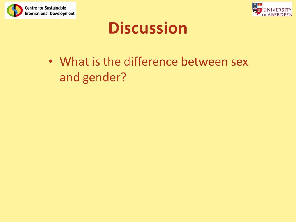 difference between sex and gender This is an educational video created to help people understand the difference between sex and gender and the various gender identities.
