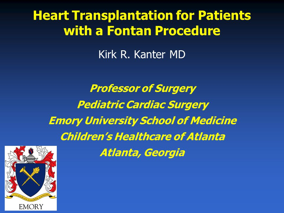 Heart Transplantation for Patients with a Fontan Procedure