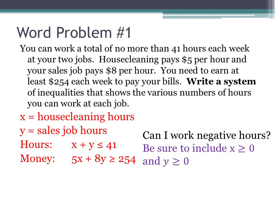 6 Systems Of Linear Inequalities Word Problems Ppt Video Online Rh Slideplayer: Systems Of Inequalities Word Problems Worksheet At Alzheimers-prions.com