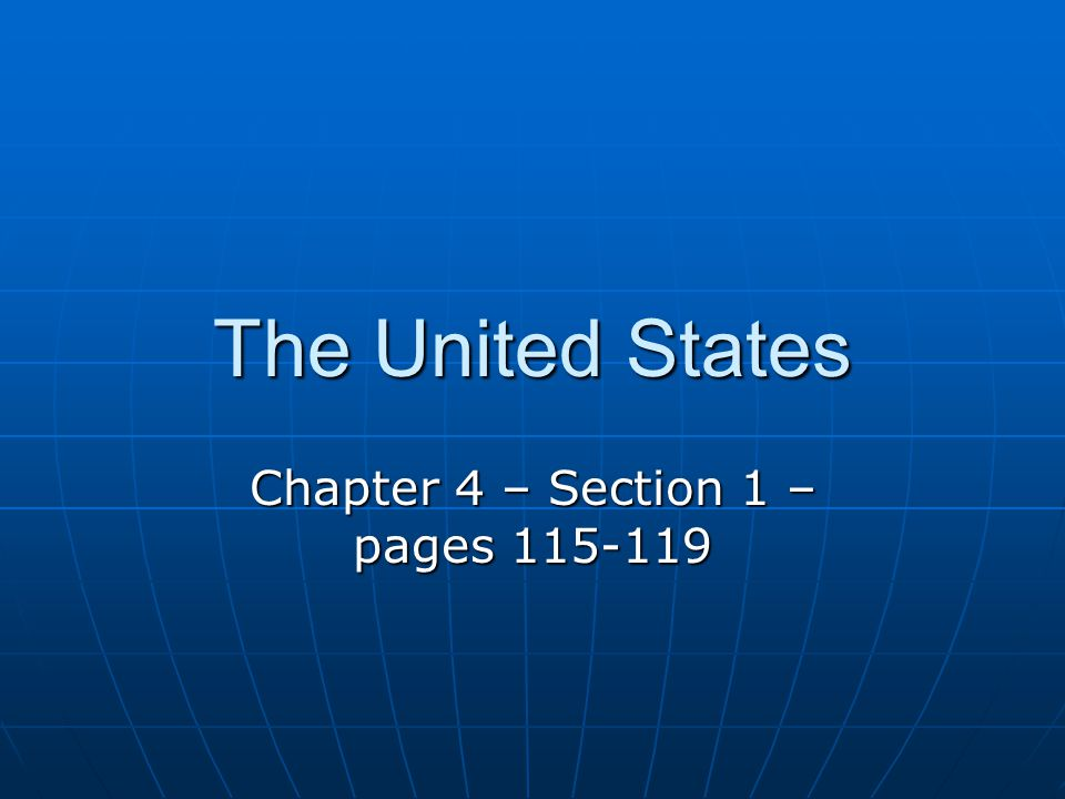 Chapter 4 – Section 1 – pages