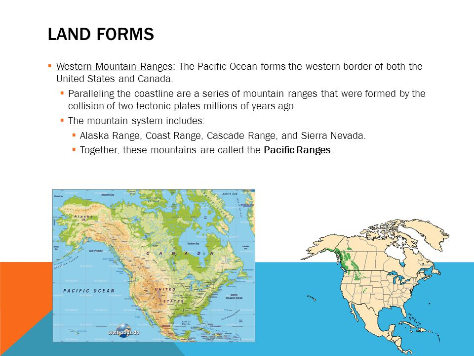 The Physical Geography Of The US And Canada Ppt Video Online - Mountain ranges of united states