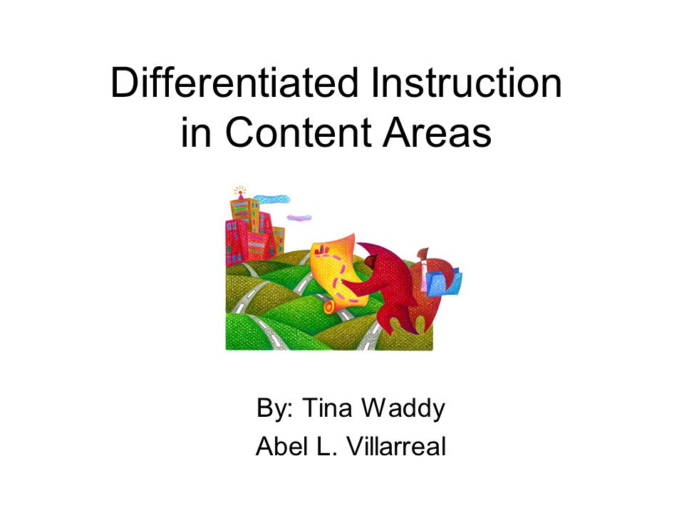 Differentiated Instruction In Content Areas Ppt Video Online Download