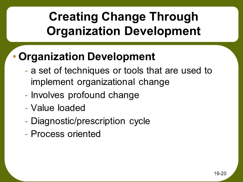 organizational change through leardership After years of collaborating in efforts to advance the practice of leadership and  cultural transformation, we've become convinced that organizational change is.