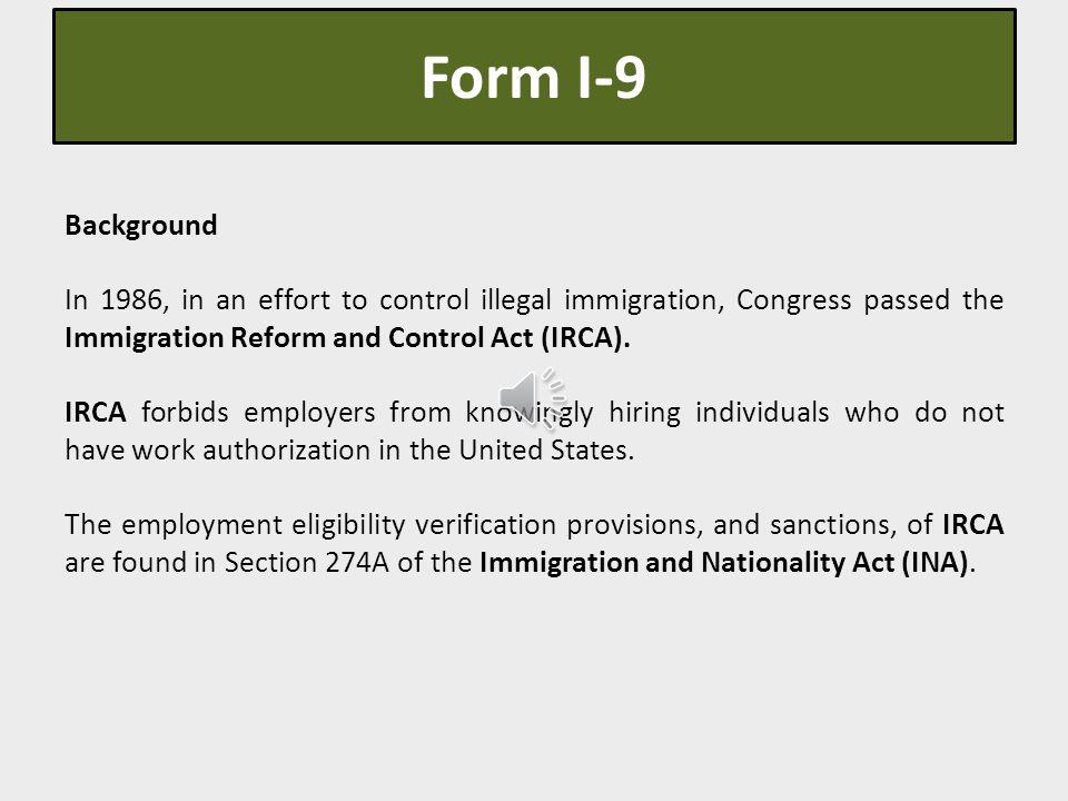 Form I-9 Employment Eligibility Verification & E-Verify ...