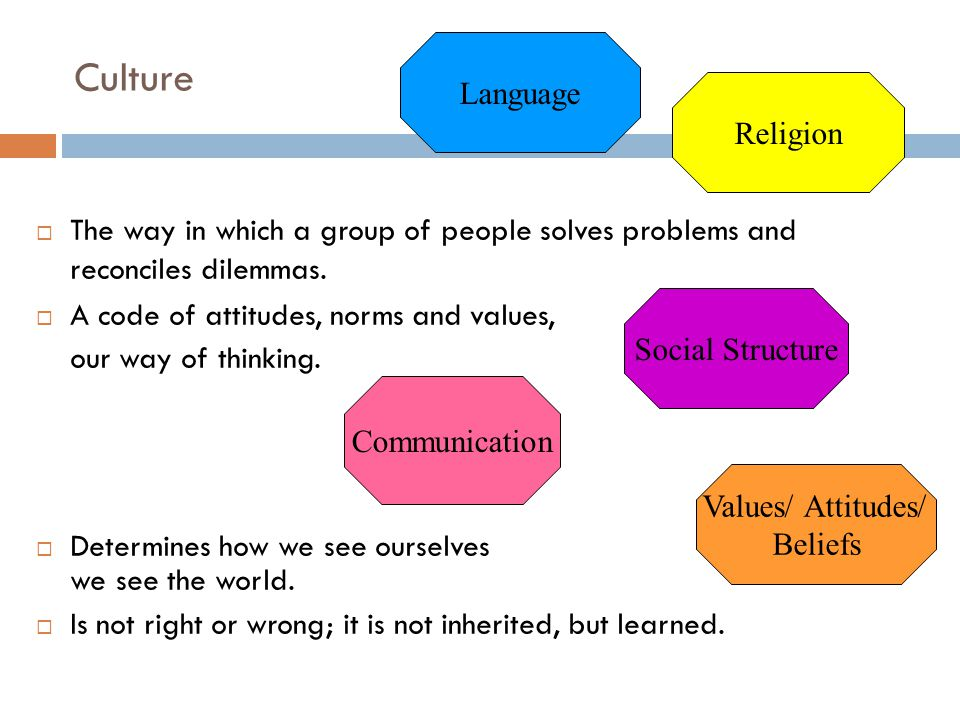 Part 2: Values and attitudes