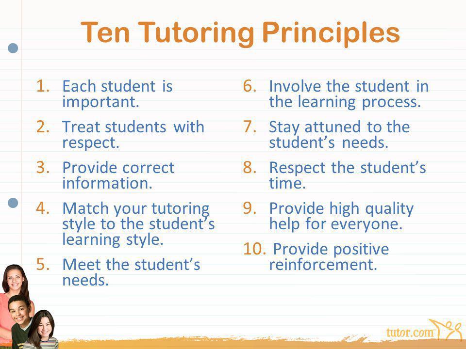 Ten Tutoring Principles