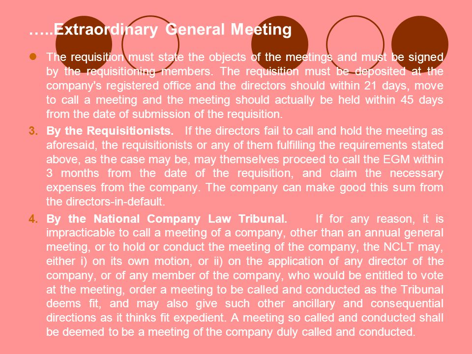 …..Extraordinary General Meeting