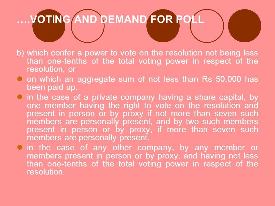 ….VOTING AND DEMAND FOR POLL
