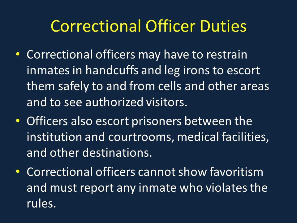 Correctional Officer Duties