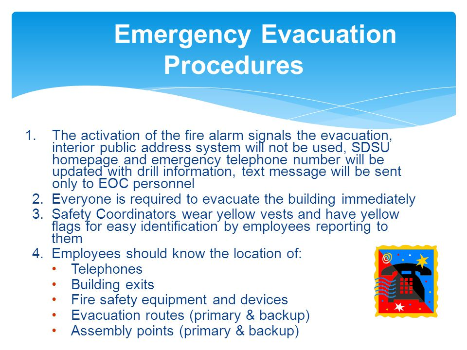 Emergency evacuation training ppt video online download for Procedure to build a house