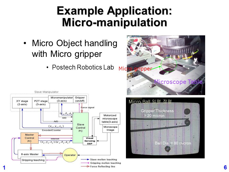 Example Application: Micro-manipulation