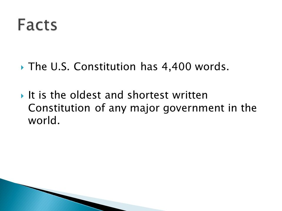 Constitution Day Interesting Facts. - ppt download