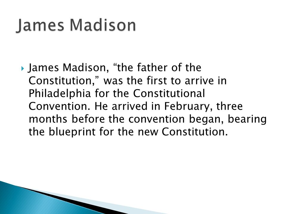 a biography of james madison the father of the constitution Nickname: father of the constitution biography: what is james madison most  known for james madison is most famous for his work on the united states.