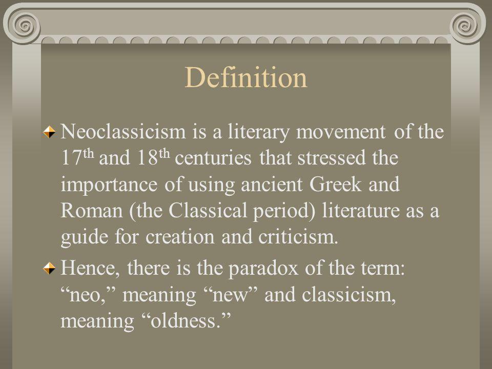 neoclassical literary criticism