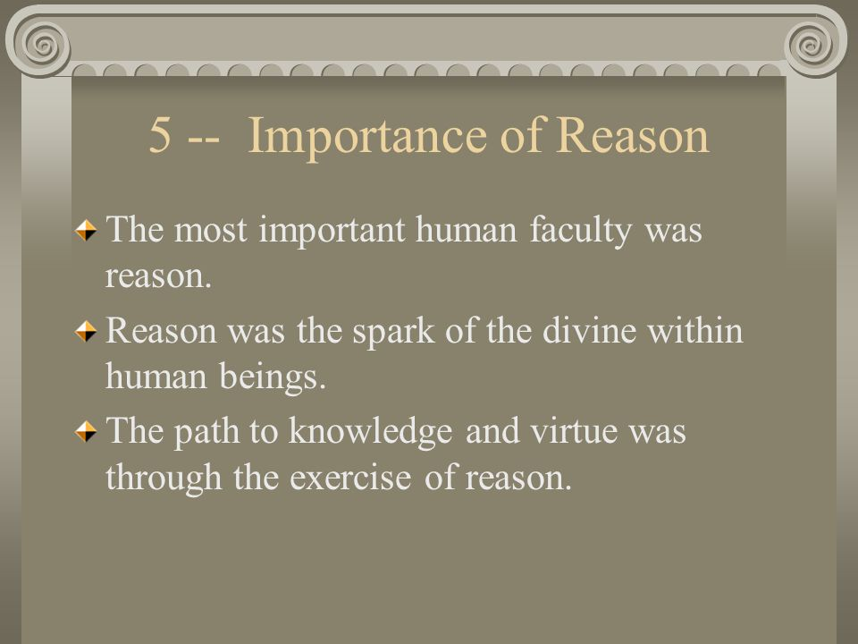 Importance of knowledge within arcadia
