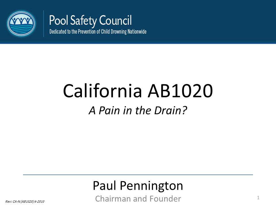 California AB1020 Paul Pennington A Pain in the Drain