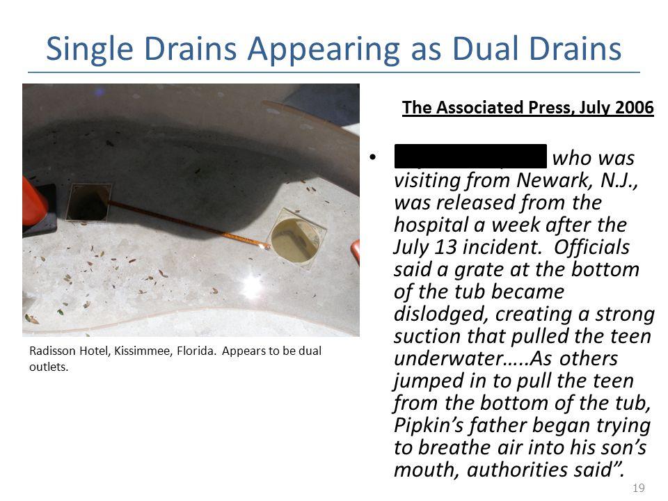 Single Drains Appearing as Dual Drains