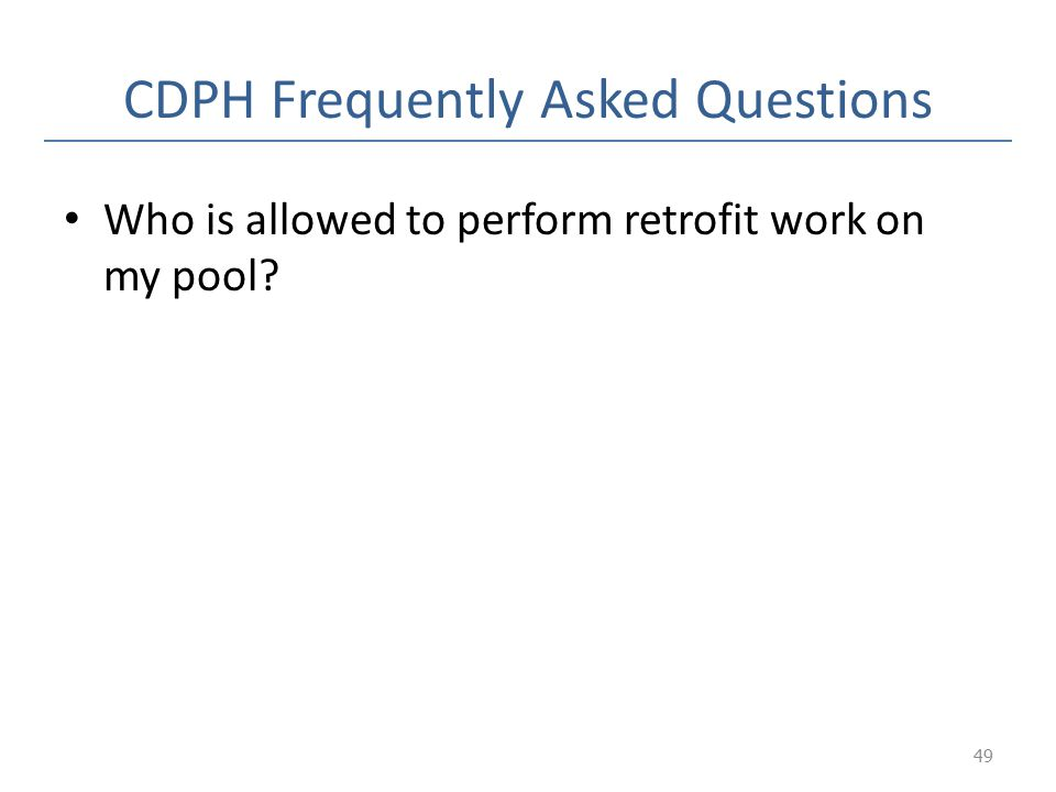CDPH Frequently Asked Questions