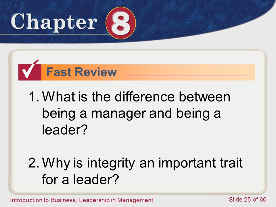 What is the difference between being a manager and being a leader