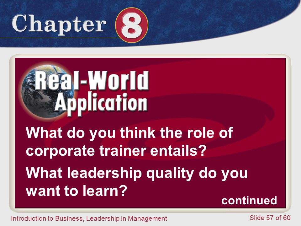 What do you think the role of corporate trainer entails