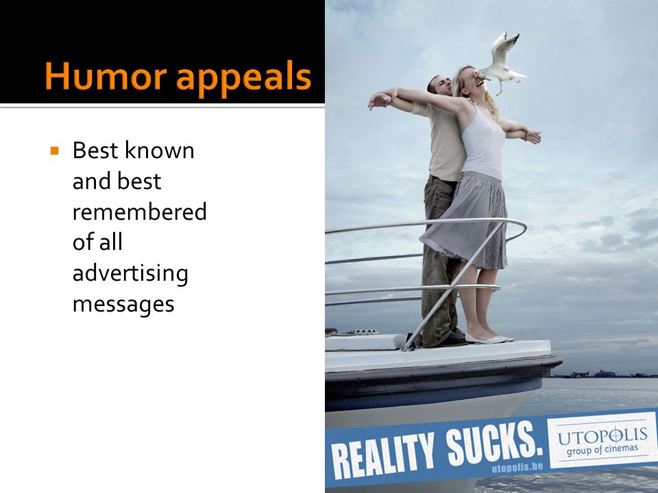 """humor in advertising Humor is a tool, not a style a successful advertising agency shouldn't have a """"style"""" humor can be an effective way to get brand recall, awareness and improve market results, but it should never be the only tool in the toolbox."""