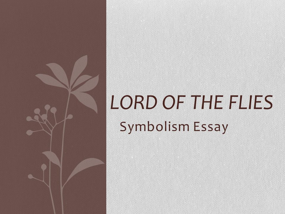 thesis statement for symbolism in lord of the flies An essay on the use of symbolism in the novel lord of the flies by william  golding,  this statement symbolizes that satan is within all humanity, including .