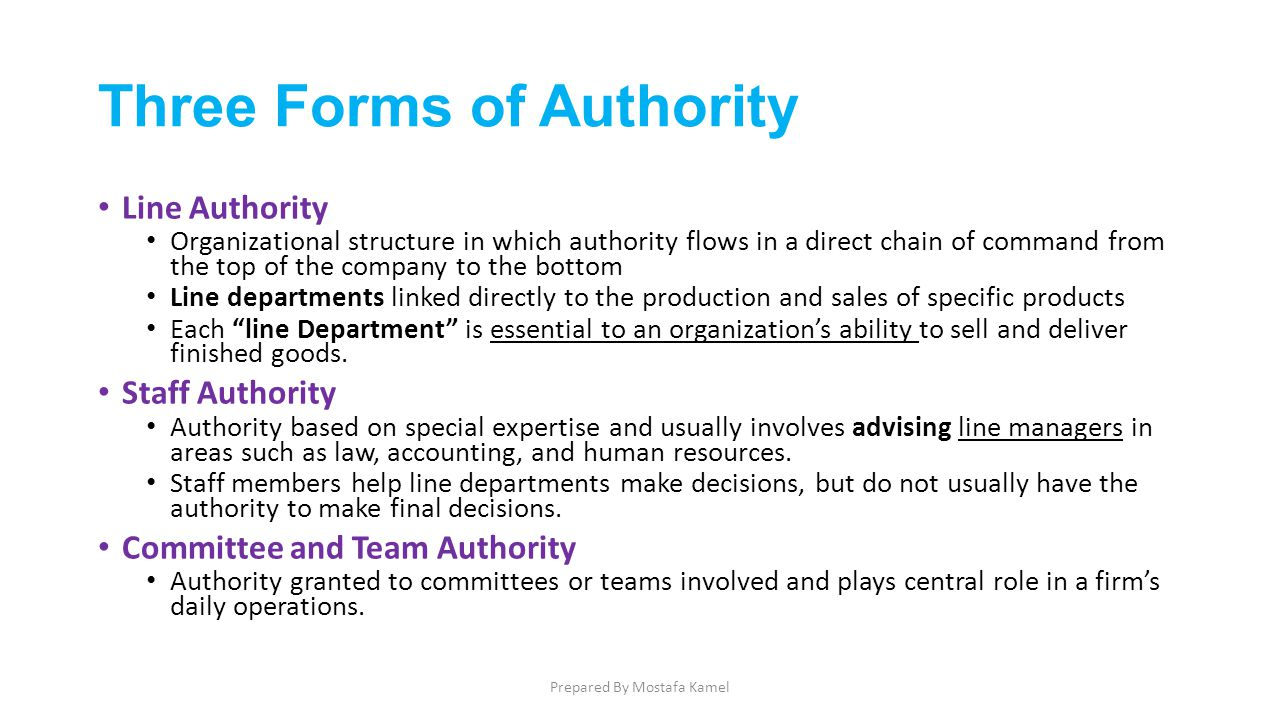 three forms of authority
